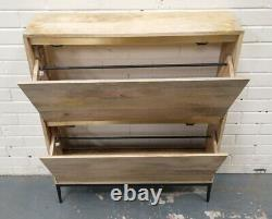 Swoon Mosby Wall-Mounted Natural Mango Wood Shoe Rack RRP £329