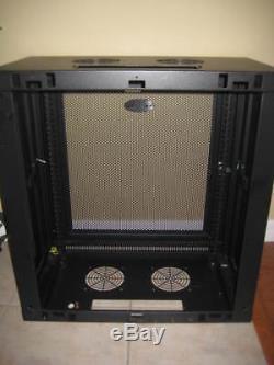 TRIPP-LITE 12U Wall Mount Smart Rack Enclosure 25x24x13, Black Server SRW12