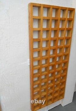 TWO 153x65x7 cm HARDWOOD DISPLAY PIGEON CUBBY HOLE STORAGE RACK ROOM DIVIDER