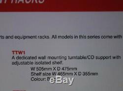 Target Audio Ttw1 Hifi Turntable Rack Stand Wall Mount Shelf Support Black Metal