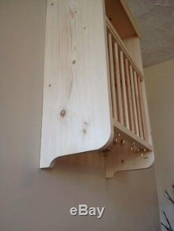 The Bleasdale. Traditional Wall Mounted Pine Storage Plate Rack