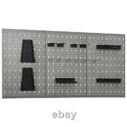 Tools Holder Pegboard Hanging Organiser Wall-mounted Storage Panel Shelf Rack UK