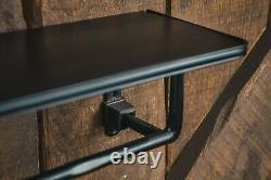 Towel Rail & shelf towel holder towel bar towel rack cast iron industrial