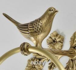Towel Ring Rack Holder Hanger Bath Shelf Bathroom Accessories Bird Statue Decor