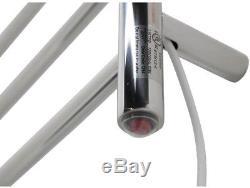 Towel Warmer Bar Rack Electric Bathroom Heated Wall Mount Home Plug In Chrome