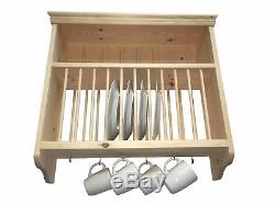 Traditional Wall Mounted Solid Pine Plate Rack (PR2)