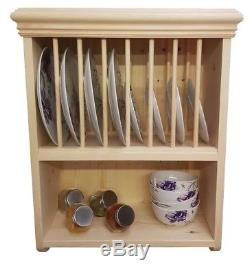 Traditional Wall Mounted Solid Pine Plate Rack (PR5)