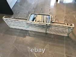 Train luggage coat rack, shelf and mirror