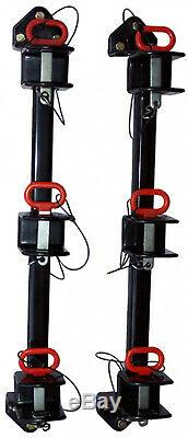 Trimmer Rack For Enclosed Trailers Vinyl-Coated Wall-Mount Adjustable 2 in. Slot