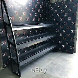 Unbranded Wall Mounted 3 tier Dumbell Rack. Commercial Gym Equipment