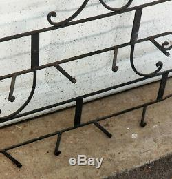 VINTAGE 60's ITALIAN WROUGHT IRON PLATE DISPLAY RACK WALL HANGER 36 W x 28 H