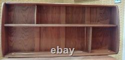 VINTAGE ERCOL WALL MOUNTED SHELF PLATE RACK Mid Century Windsor Display