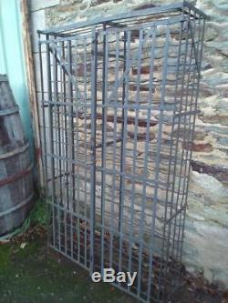 Vintage French Rigidex Lockable Wine Cage Rack Storage Of