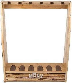 Vertical Gun Rack With Storage Stand Up Wall Mount Or Floor Hold 6 Rush Creek US