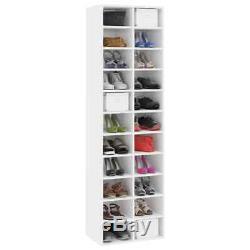 VidaXL Shoe Cabinet High Gloss White Chipboard Shoe Rack Organiser Stand Shelf