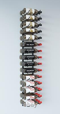VintageView WS53 5-Foot 45 Bottle Wall Mounted Wine Rack in Satin Black