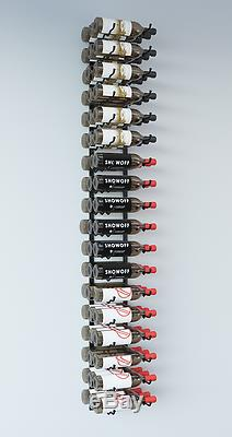 VintageView WS63 6-Foot 54 Bottle Wall Mounted Wine Rack in Satin Black