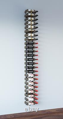 VintageView WS83 8-Foot 72 Bottle Wall Mounted Wine Rack in Satin Black
