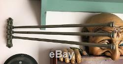 Vintage 3 Swing Arm Wall Mount Towel Bar Rack Bath Kitchen brass nickel JL MOTT