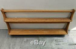 Vintage 70's Ercol Elm Plate Rack Wall Shelf superb condition golden dawn