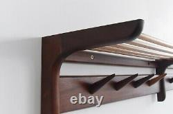 Vintage Afrormosia Wall Mounted Coat Rack by John Herbert for A. Younger Ltd