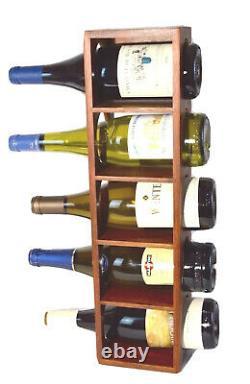 Vintage Mid Century Teak Wine Rack Holds Five Wine Bottles Denmark