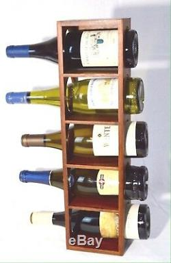 Vintage Mid Century Teak Wine Rack Holds Five Wine Bottles Denmark