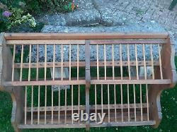 Vintage Penny Pine Plate Rack 1935 Large Wall Hanging 40 Plate Spaces