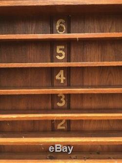 Vintage Pool / Billiards Wall Mounted Ball Shelf Rack Etc