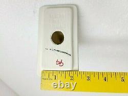 Vintage Silver Ceramic Towel Bar Ring Holder Rod Rack Acrylic Mid Century Modern