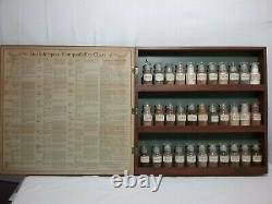 Vintage Three Mountaineers Spice Rack with Original Bottles