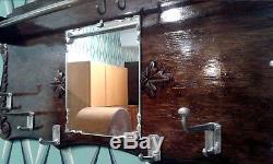 Vintage coat and hat rack. Superb wall mounted c mid century. See Multi pics