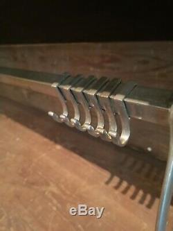 Vintage metal wall mounted luggage rack coat hook rail 1920/30 Art Deco