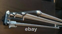 Vintage metal wall mounted luggage rack coat hook rail 1945/55 Art Deco I
