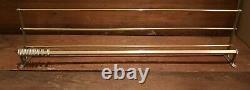 Vintage metal wall mounted luggage rack coat hook rail 1945/55 Art Deco W100 cm