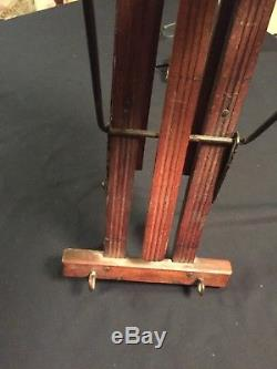 Vtg Antique BEAUTY Wall Mount Clothes Dryer or Quilt & Linens Display Rack