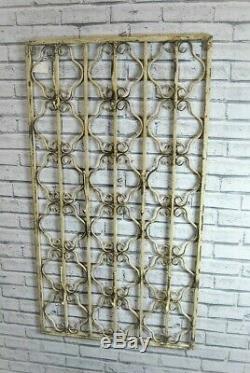 Wall Coat Hook Rack Cream Distressed Heavy Metal Hooks Ornate Unit