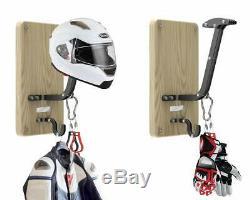 Wall Mount Helmet Holder and Jacket Hanger VT-01 Helmet Hook Rack Gloves Ba