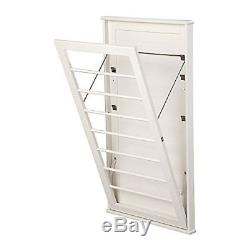 Wall Mount Laundry Rack Adjustable Clothes Drying Rod Space Saver Hanger S