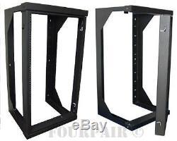 Wall Mount Swing Out Gate Network IT Steel Cabinet Data Rack 25U 25 Depth