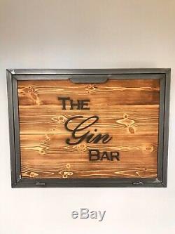 Wall Mounted Bar, Gin Bar, Home Bar, Wine Rack, Cocktail Bar, Drinks Cabinet