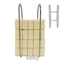 Wall Mounted Chrome Towel Holder Shelf Bathroom Storage Rack Rail New UKDC