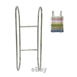 Wall Mounted Chrome Towel Holder Shelf Bathroom Storage Rack Rail New UKED
