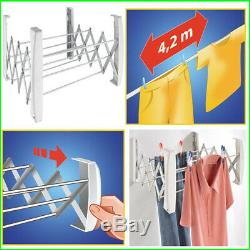 Wall Mounted Dryer Indoor Clothes Drying Rack Expandable Compact Laundry Airer