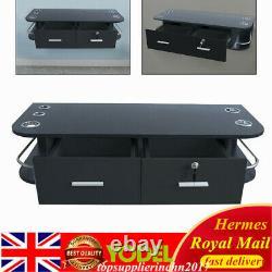 Wall Mounted Floating Display Shelf With hidden Drawer Storage Rack Unit UK