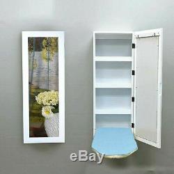 Wall Mounted Foldable Cabinet Ironing Board Storage Rack