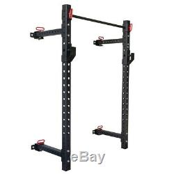 Wall Mounted Foldable Weight Rack Gym Squats Bench Press Pull Ups Dips