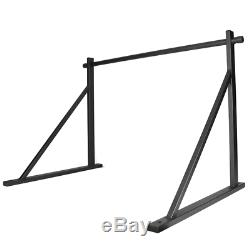 Wall Mounted Heavy Duty Chin Pull Up Bar Workout Training Powder Coated Black