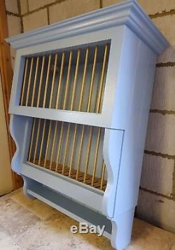 Wall Mounted Solid Wood Plate Rack