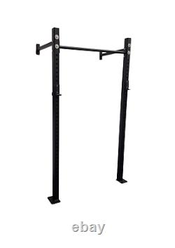 Wall Mounted Squat Rack Including J Hooks. Crossfit weightlift home gym